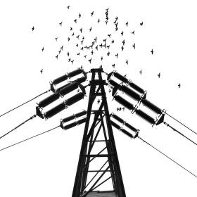 čierne na bielom: letka nad stožiarom