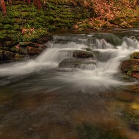 Jarní vody potok Bystrý