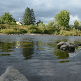 Soutok řek Ostravice a Morávky ve Frýdku-Místku