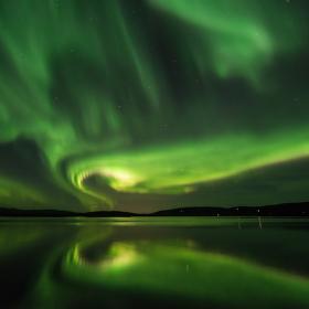 Noční nebe na polárním kruhu