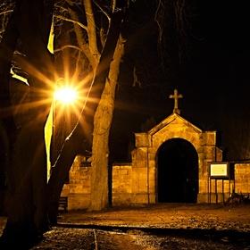 Hřbitovní brána na vrchu Gothard