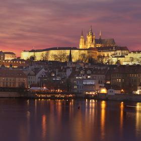 Praha po západu