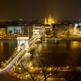 Noční Budapešť