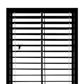 čierne na bielom: za sklom