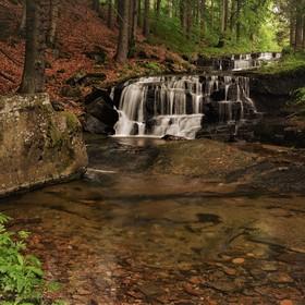 Hučavský vodopád v Jeseníkách