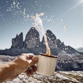 Chvíle na kafíčko na Tre Cime di Lavaredo