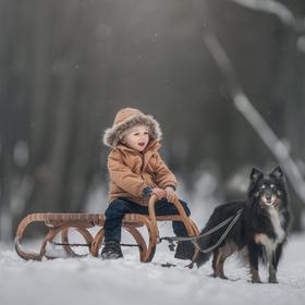 Toník a jeho sněžný pes ????☺️