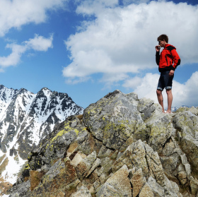 Na vrcholu Predného Soliska