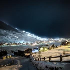 Noční Livigno - Itálie
