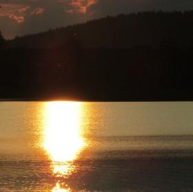 Západ Slunce nad Lipnem