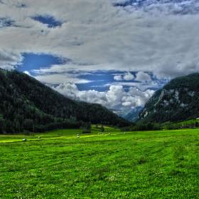 Údolí v alpách