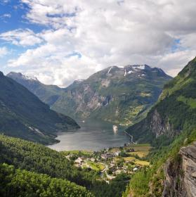 Geiranger Fjord, Norsko