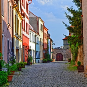 Malebná ulička v Olomouci