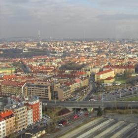 Pohled ze střechy Empiria (104 m)