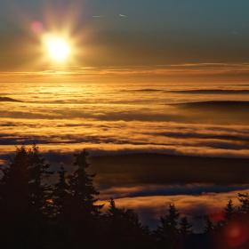 západ slunce z Klínovce