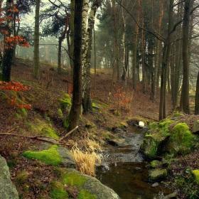 Zima v rozepnutém podzimním plášti.