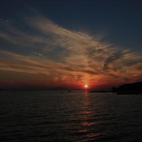 západ slunce na ostrově Pag