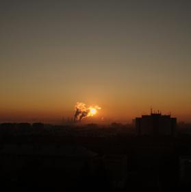 Vychod slunce nad Porubou