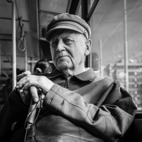 Pán v tramvaji