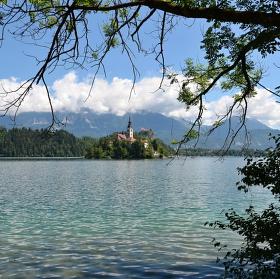 Slovinsko - jezero Bled