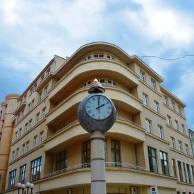 Hodiny v Ostrožné ulici v Opavě...:-)