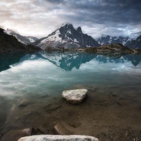 Ráno u Lac Blanc