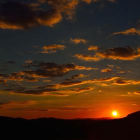 Západ slunce...