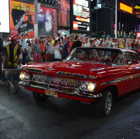 Lowrider na Times Square