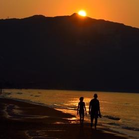 Východ slunce na Zakynthosu