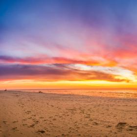 Západ slunce na dunách