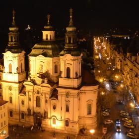 Praha, pohled z věže Staroměstské radnice