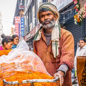 Prodejce z Nepálu