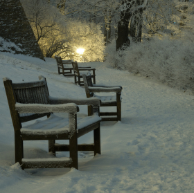 Špilberk pod sněhem