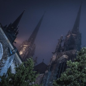 Katedrála Petra a Pavla ve večerní mlze