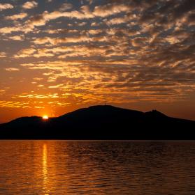 Západ slunce nad Pálavou