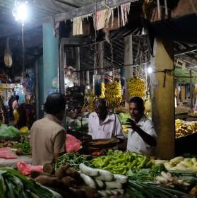Tržnice ve městě Tangalle