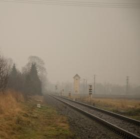 Podzimní mlha v zimě