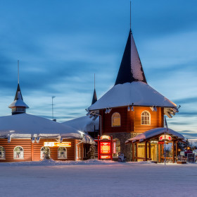 Rovaniemi, vesnicka santa clause