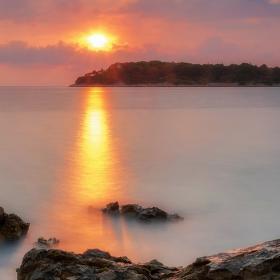 Přímořský západ slunce