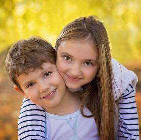 Lucie a Nicolas v barvách podzimu