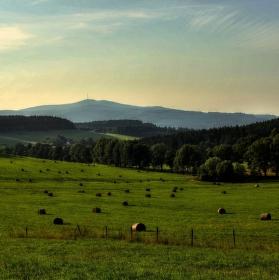 Pohle z obce Přídolí na Kleť