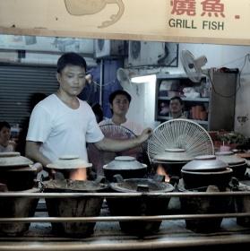 Tradiční rychlé občerstvení v Malaisii