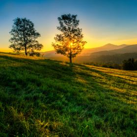 Ráno na Křížovém vrchu