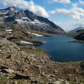 Ledovcové jezero Estany de Monges