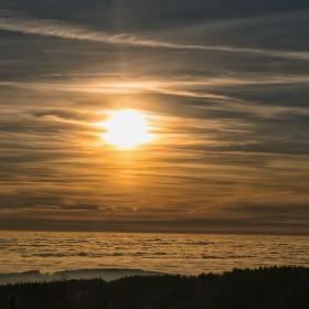 Inverze při západu slunce