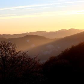 Západ slunce na Vršatci