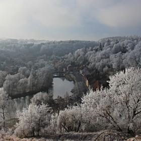 Zimní Tábor - údolí řeky Lužnice