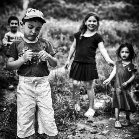 Děti z cikánské osady