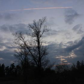 Přelet nad oblohou.