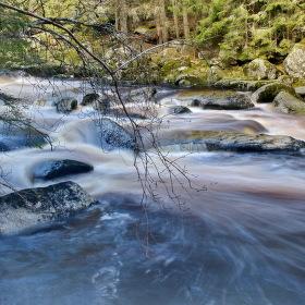 Řeka Vydra pod Antýglem